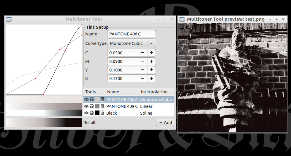 screenshot of the current Multitoner Tool